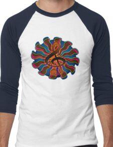 Sunset Treble Clef / G Clef Music Symbol Men's Baseball ¾ T-Shirt