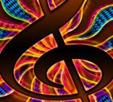 Sunset Treble Clef / G Clef Music Symbol Sticker