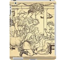 Walter Crane's Painting Book 1889 36 - Gifts Lines iPad Case/Skin