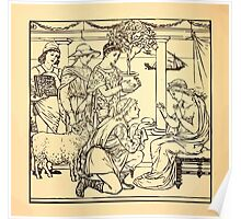 Walter Crane's Painting Book 1889 36 - Gifts Lines Poster
