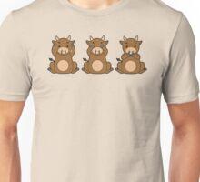 Hear No, See No, Moo No Evil (Bull) Unisex T-Shirt