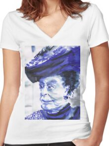 Lady Violet the Dowager Women's Fitted V-Neck T-Shirt