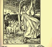 The shepheard's calender twelve aeglogues proportionable to the twelve monethes Newly adorned with twelve pictures and other devices by Walter Crane 1898 129 - December by wetdryvac