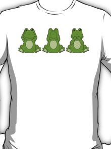 Hear No, See No, Croak No Evil T-Shirt