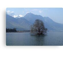 lonely tree island Canvas Print