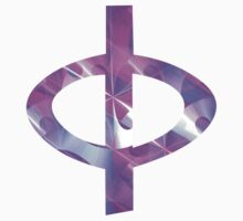 Greek Phi | Shiny Purple Button | Fractal Art Fashion by SirDouglasFresh