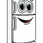 White Refrigerator Cartoon by Graphxpro