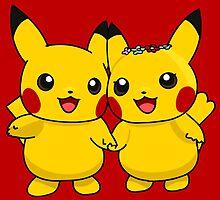 Mr. & Mrs. Pikachu by Eat Sleep Poke Repeat