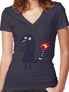 Shitty Charmander Women's Fitted V-Neck T-Shirt