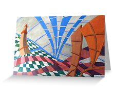 254 - THE HARBOUR WATCHTOWER - DAVE EDWARDS - ACRYLIC - 2009 Greeting Card