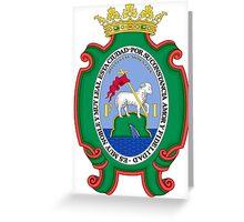 Historic San Juan Coat of Arms Under Spanish Rule  Greeting Card
