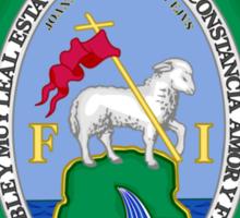 Historic San Juan Coat of Arms Under Spanish Rule  Sticker