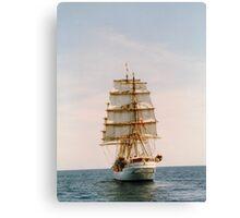 Tall Ship .. The Danmark Canvas Print