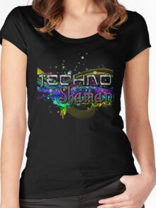 TECHNO SHAMAN Women's Fitted Scoop T-Shirt