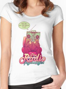 the Radio psychologist Women's Fitted Scoop T-Shirt