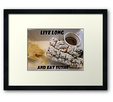 Sushi Lover Framed Print