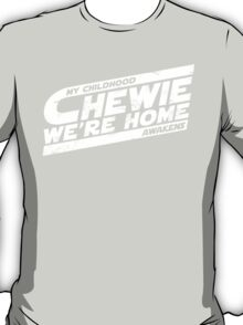 Chewie We're Home V03 Distressed White T-Shirt