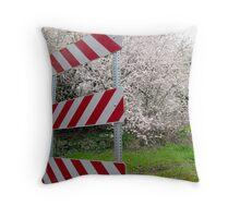 beware blossoms Throw Pillow