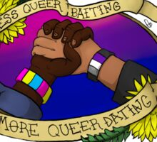 Less Queerbaiting, More Queer Dating!  Sticker