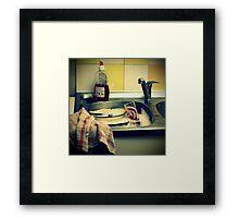 _ daily grind _ Framed Print