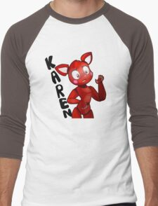 Karen the cat Men's Baseball ¾ T-Shirt