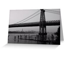 Williamsburg Bridge Greeting Card