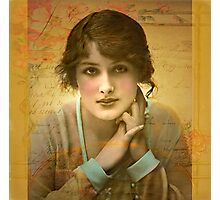 Vintage Girl Photographic Print
