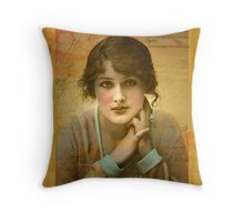 Vintage Girl Throw Pillow