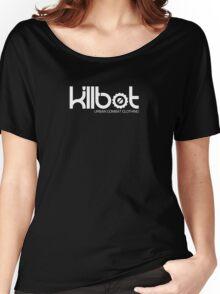 Killbot Logo: White Women's Relaxed Fit T-Shirt