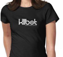 Killbot Logo: White Womens Fitted T-Shirt