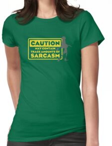Human Kuzco - May Contain Trace Amounts of Sarcasm Womens Fitted T-Shirt