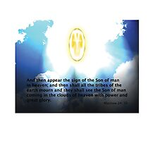 The Sign of the Son of Man! Photographic Print