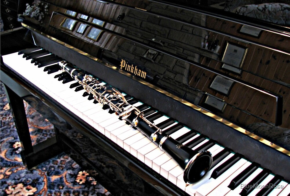 Black Beauty - Clarinet on Piano Keyboard by BlueMoonRose