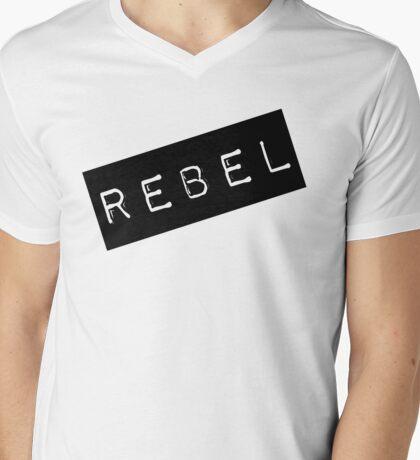 Rebel Label  Mens V-Neck T-Shirt