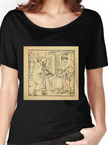 Walter Crane's Painting Book 1889 29 - Hot Cross Buns Lines Women's Relaxed Fit T-Shirt