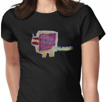 Big Tail Dino Womens Fitted T-Shirt
