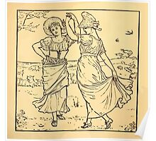 Walter Crane's Painting Book 1889 9 - Dance Lines Poster