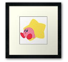 Kirby - Super Smash Bros  Framed Print