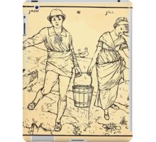 Walter Crane's Painting Book 1889 32 - Jack and Jill Lines iPad Case/Skin