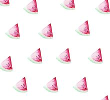 Water color Watermelon Pattern by sarahtypes