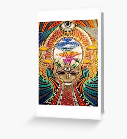 Psychedelic Grateful Dead Greeting Card