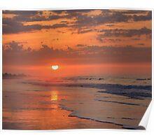 Sunset on Emerald Isle, North Carolina Poster