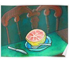 Petite Dejeuner with Grapefruit Poster