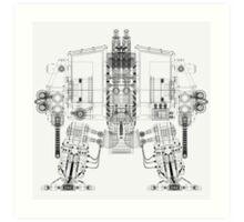 Dreadnought Wireframe Art Print