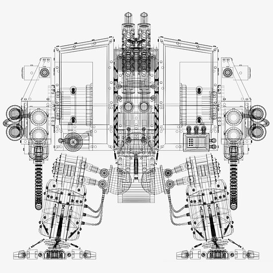 Dreadnought Wireframe by bradvanreenen