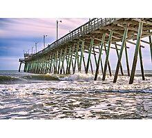 Fishermen's Pier, Emerald Isle, North Carolina Photographic Print
