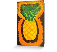 Pineapple Primitive by Holly Cannell Greeting Card