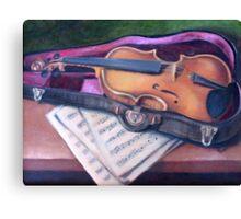 Violin in Case Canvas Print
