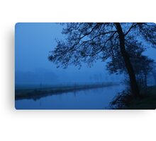 Blue morning in waterland Canvas Print