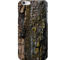 Mossy wood bark iPhone Case/Skin